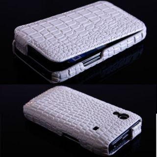 Ace Krokodil Optik Handy Leder Tasche Hülle Case Weiß #266