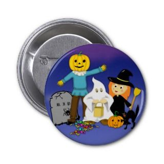Trick or Treat Cute Halloween Cosplay Button/Badge