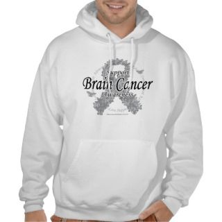 Brain Cancer Ribbon of Butterflies Hooded Sweatshirts