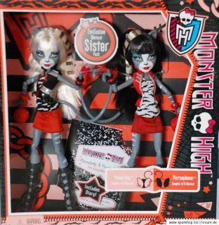 Monster High Meowlody & Purrsephone Set W9215