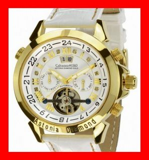 VK 1.349,  €  Calvaneo 1583 ASTONIA DIAMANT GOLD WHITE AUTOMATIK