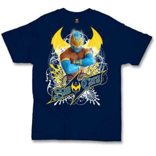 Sin Cara WWE Blue T shirt New