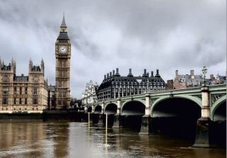 VLIES Tapete London Big Ben Skyline England Foto 330 x 270 cm