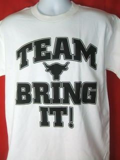 The ROCK Team Bring It Vintage WWE T shirt New