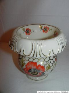 Alte Porzellan Vase Edelstein Bavaria handbemalt Überfangvase Vasen