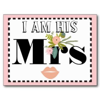 Flora and Fauna I am His Mrs Postcards