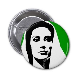 BHUTTO PINBACK BUTTONS