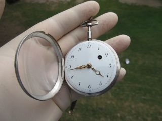 VERGE PRION POCKET WATCH SPINDEL TASCHENUHR LONDON Relógio Bolso