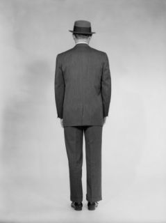 Man in Full Suit, Rear View, Studio Shot Photographic Print by George Marks