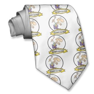 WORLDS GREATEST GRUMPY OLD MAN CARTOON TIES