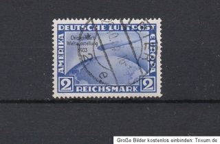 Satz Chicagofahrt Graf Zeppelin 1933 gestempelt MiNr. 496 498