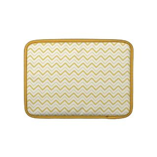 Yellow chevron zigzag stripes zig zag pattern sleeves for MacBook air
