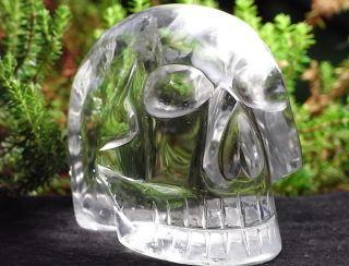 Superschöner Glasklarer Großer Bergkristall Schädel Skull Totenkopf