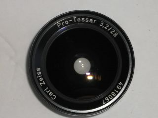Carl Zeiss Pro Tessar 3.2 28mm WIDE ANGLE Lens for Rollei Rolleiflex