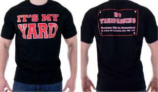 UNDERTAKER Its My Yard No Trespassing Black T shirt New