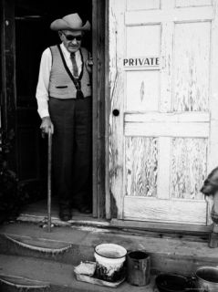 80 Year Old George Spahn, Owner of the Spahn Movie Ranch Where Charles Manson and Followers Stayed Premium Photographic Print by Ralph Crane