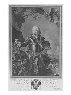 Francis I, Holy Roman Emperor, Engraved by Philipp Andreas Kilian