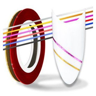 Nail Art Stripes Tape Zierstreifen Packung mit 10 Rollen Striping Tape