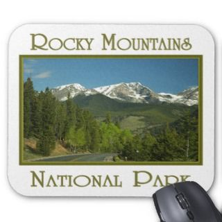 Snow Capped Rocky Mountain National Park Souvenir Mousepads