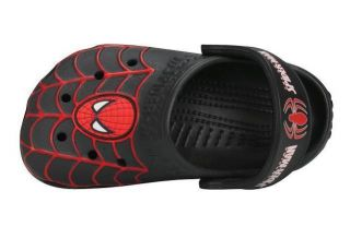 Neu Kids Crocs™ Spider man Black Shoes Size GR 23 30