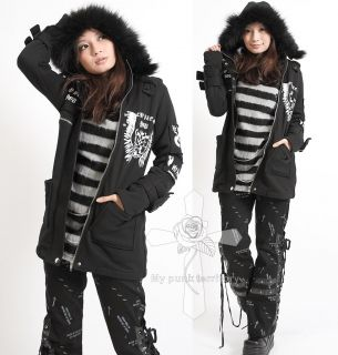 Visual Kei DESPAIR ANGEL Punk Soldier Fury Slim Jacket