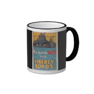 Propaganda Poster Beat Back the Hun WWI Mug