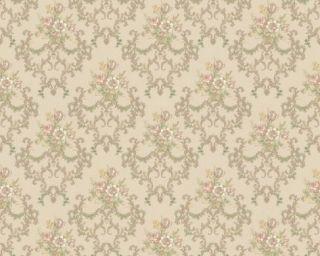 Chateau II 6481 36 Barock Ornament Tapete Blumen beige
