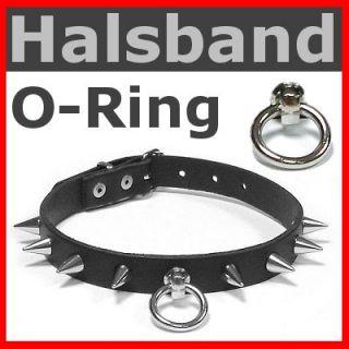 Nieten HALSBAND mit Ring der O + Spike 13mm Gothic Punk