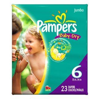 Pampers Baby Dry   Jumbo Pack Size 6 35 lbs and up (Einwegwindeln