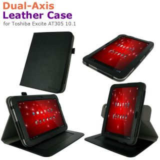 rooCASE Dual Axis Leather Folio Case Cover for Toshiba Excite AT305 10