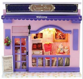 Puppenhaus Dollhouse Miniatur QUEEN SHOP DIY Spielzeug Puppenstube