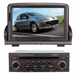 Peugeot 307 Touchscreen Autoradio Navigation GPS DVD  USB 3D DVB TV