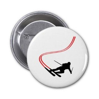 downhill ski skiing red track pins