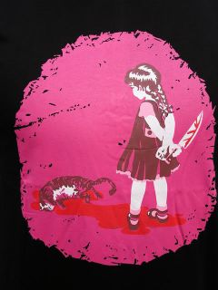 emily cat killer suicide rockabilly girl shirt emo gr S