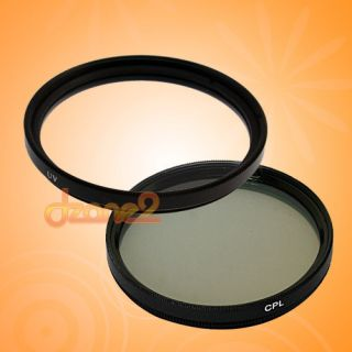New 52mm UV + CPL Filter Set Circular Polarizing #R294