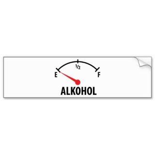 Alkohol Anzeige leer icon Bumper Sticker