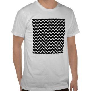 Black and White Zig Zag Pattern. T Shirts