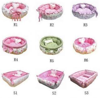 100% Cotton Handmade Pet Dog Cat Bed House+pillow 9type