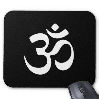 om aum holy symbol mouse pad