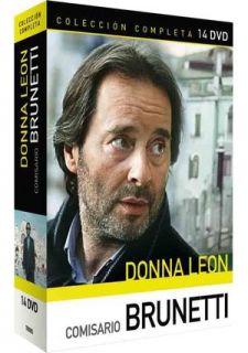 DONNA LEON COMISSARIO BRUNETTI 14 DVD BOX SET NUE OVP
