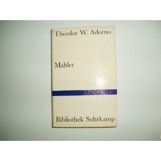 Mahler. Eine musikalische Physiognomik.: Theodor W. Adorno