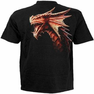 Gothic Emo Metal Biker Drache Drachen T   Shirt Hemd XXL beidseitig