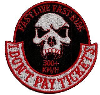 Biker Aufnäher Streetfighter Fast Live Fast Ride   300km/h   I dont