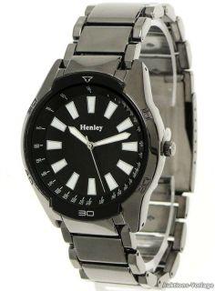 HENLEY Herrenuhr,Herren designer Armbanduhr,Trend Uhr,Anthrazit