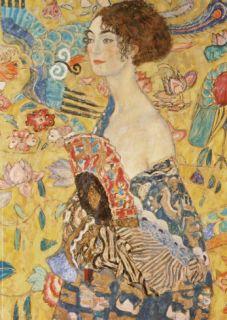 Lady with a Fan Posters by Gustav Klimt