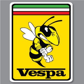 2X VESPA PIAGGIO FERRARI Bee Biene Hornet WASP Aufkleber Decal