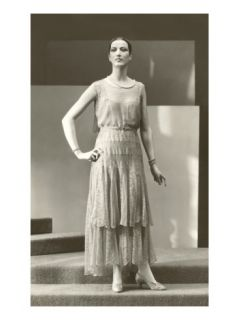 Twenties Mannequin in Long Lace Dress Posters