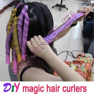 50pcs 21 A+ 55cm Hair Curlers Curlformers Spiral Ringlets Perm