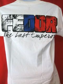 Fedor Emelianenko Clinch Gear HGP Walkout White T shirt