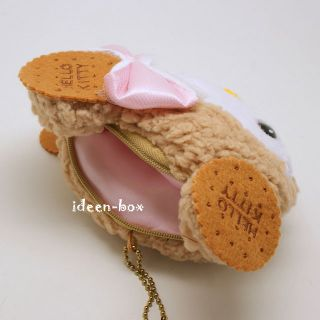 Hello Kitty Mini Geldbörse Geldbeutel Kekse Anhänger Plüsch Puppe